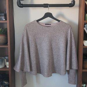Zara dusty pink poncho sweater